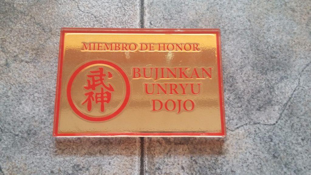 Hedersmedlem i Bujinkan Unryu Dojo